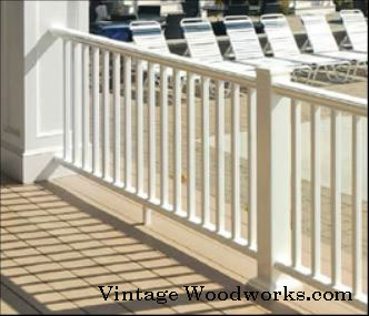 composite porch railings by Vintage Woodworks.com