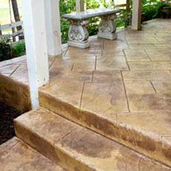 Porch And Steps Beautifully Stained Concrete Flooring Options