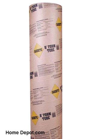 Sakrete concrete form tube