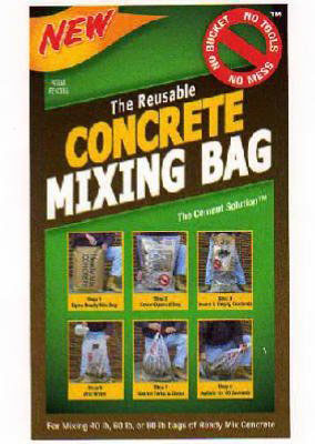 concrete mixing bag by Conservco