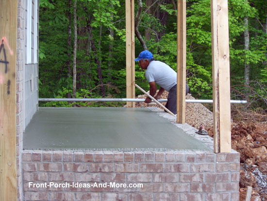 Porch foundations porch repairs porch footing for Front porch flooring ideas