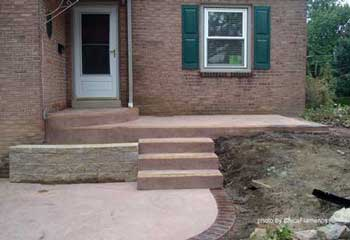 Concrete Porch Steps Concrete Floor Stain Concrete Flooring