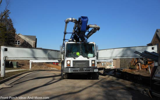 concrete pumping truck