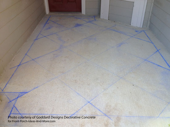 Diamond Pattern For Stained Concrete