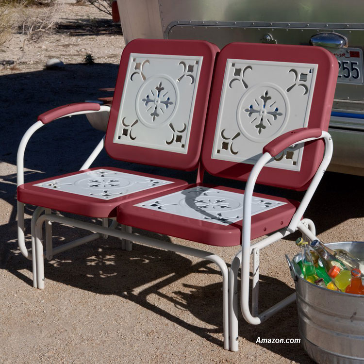 Coral Coast retro porch glider from Amazon.com