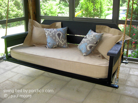 cottage style swing bed by porchco.com