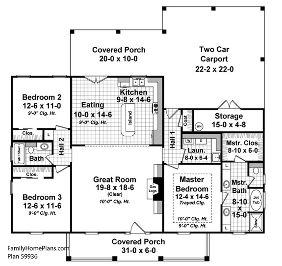 Small house floor plans small country house plans for House blueprints online