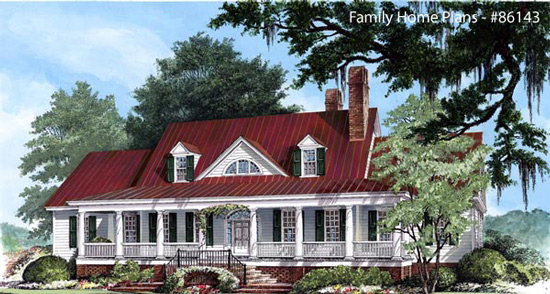 Nice Wide Front Steps And Large Porch Plan 59172