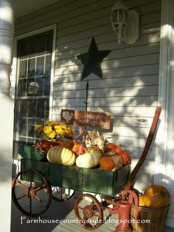 Country Style Farmhouse Front Porch