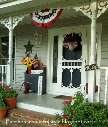 porch decorating ideas front porch patriotic country front porch