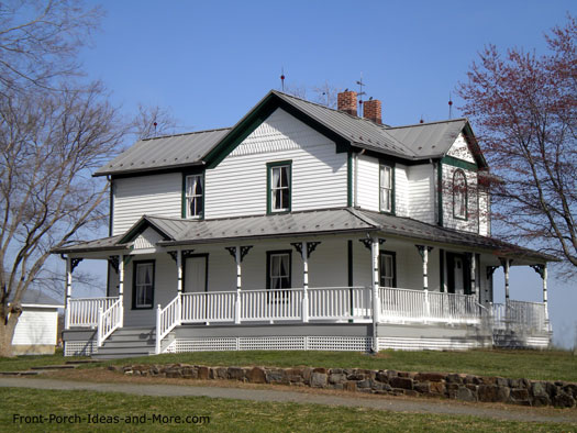 Farm house porches country porches wrap around porches for Classic house fronts