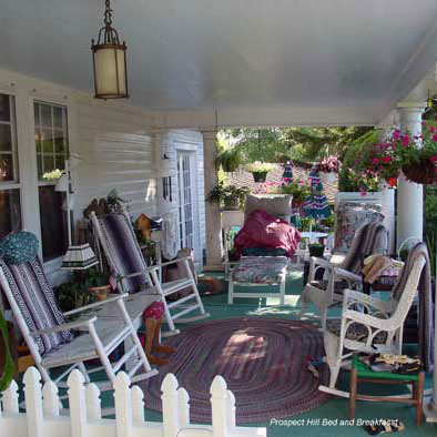 country-furniture on front porch