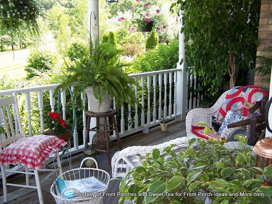 Colorful summer country porch
