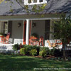 expansive farm house style country front porch