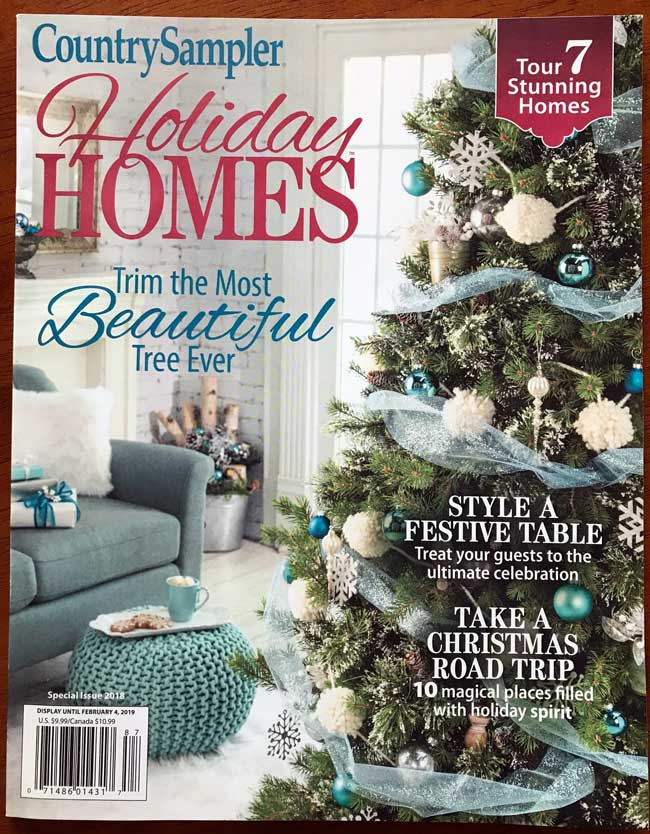 Country Sampler magazine cover where we are featured