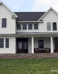 entrance area on wrap around porch