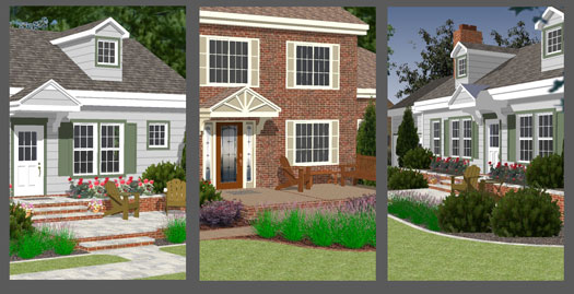 front porch designs illustrator