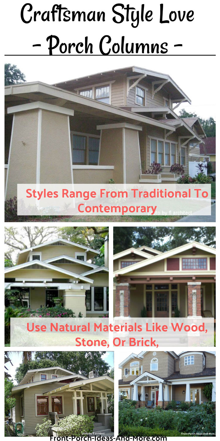 craftsman style front porch column options