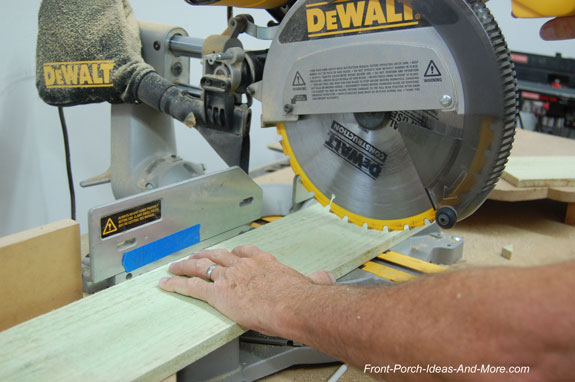cutting board with sliding miter saw