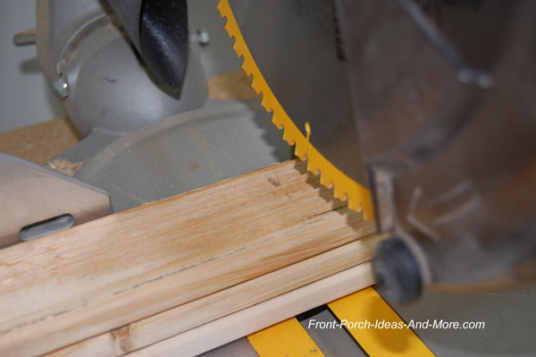 cutting lumber for fence rails