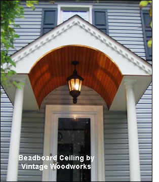 cypress beadboard porch ceiling