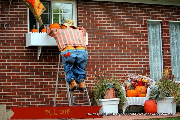 Mr. Full Moon climbing a ladder - very funny!