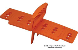deck or porch board spacer and alignment tool
