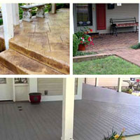 graphic depicting different types of porch flooring