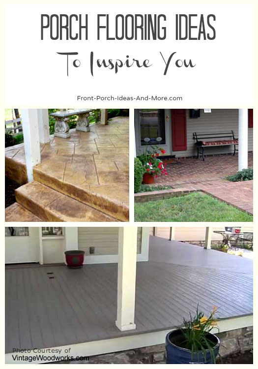 collage of different kinds of porch decking