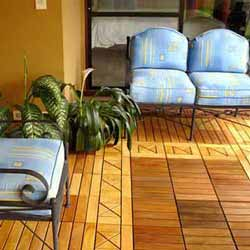 tiled decking materials on front porch
