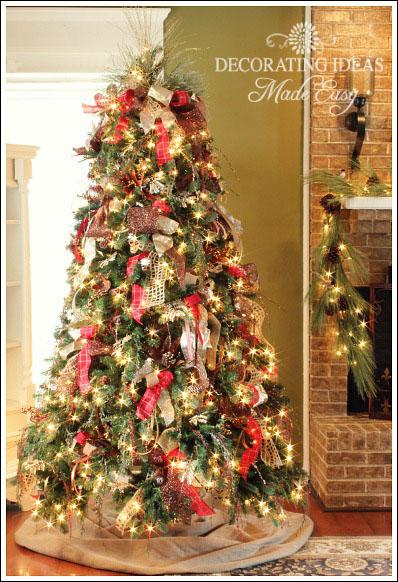 Shares easy christmas projects such as decorating a christmas tree