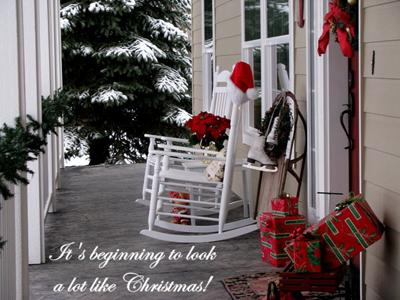 christmas at our house in idaho - Decorating Porch For Christmas Country