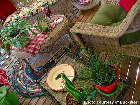 Dawn found these wicker pieces at a thrift store