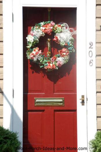 floral front door wreath