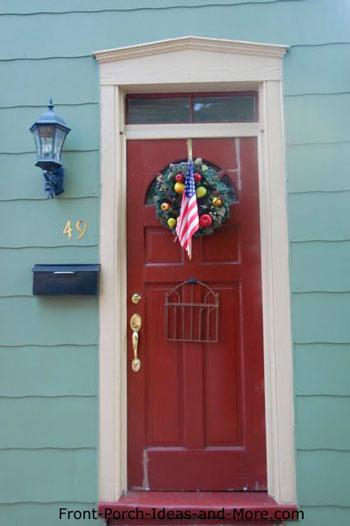 Americana front door wreath
