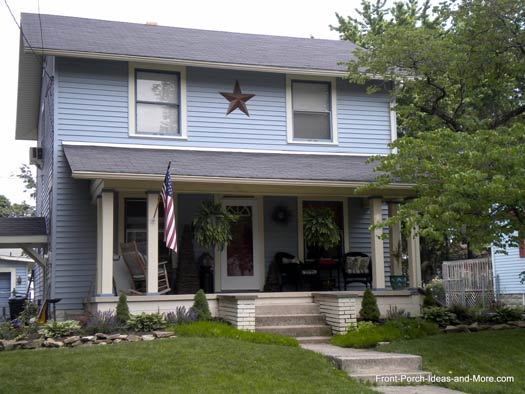 Meaning of decorative stars seen on country homes and for Home exterior decorative accents