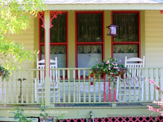 charming front porch with railing planter