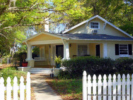 corner craftsman front porch