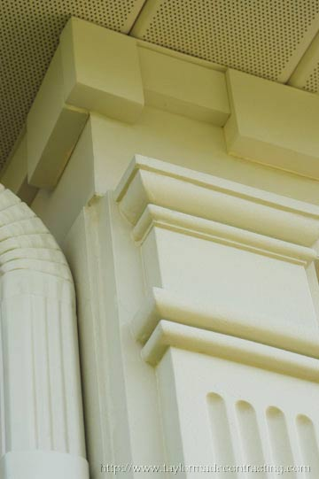 excellent example of dentil moldings