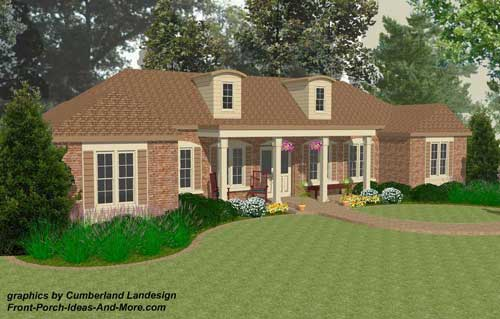 Ranch Three-Dimensional Rendering showing remodeling results
