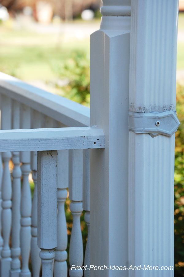 detaching railings from porch column
