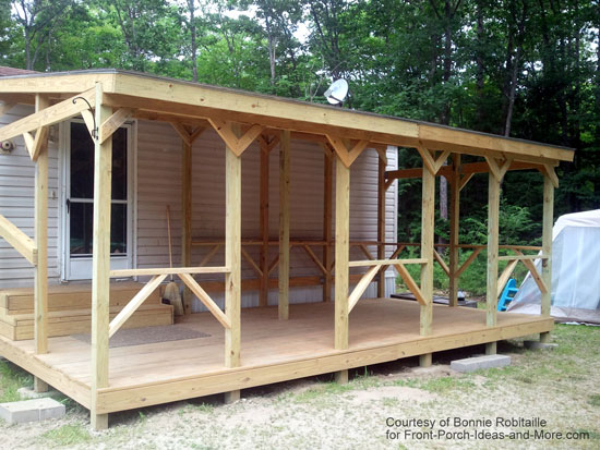 mobile home front porch by ready decks