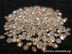 diamonds on black cloth