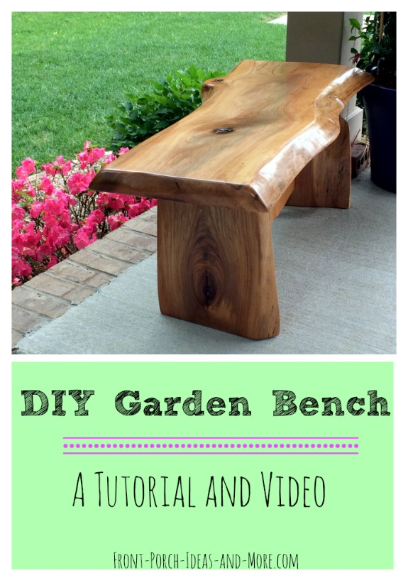 finished diy garden bench on porch