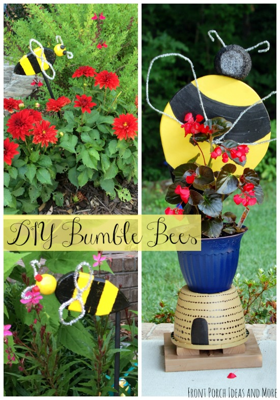 Whimsical Bumble Bee Art For The Garden