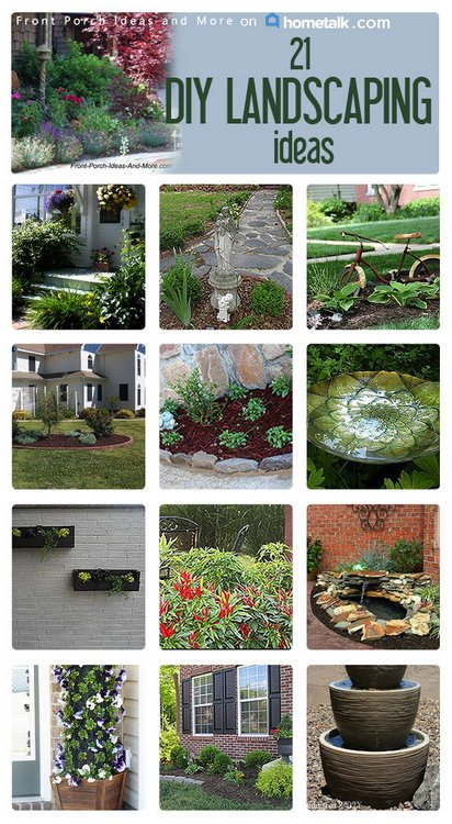 DIY landscaping collage
