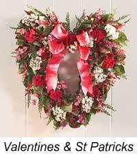 valentine decorated wreath