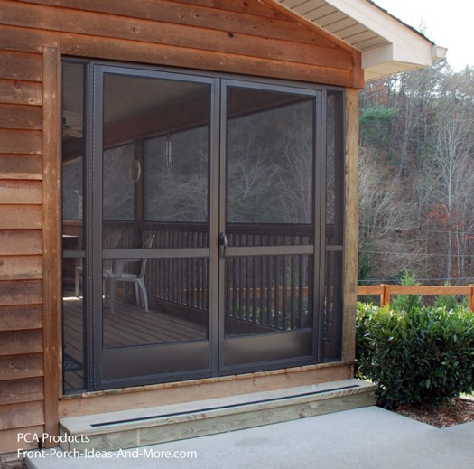 Use your aluminum screen door to maximize curb appeal for Double sliding screen door