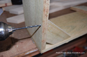 drilling pilot holes for supports