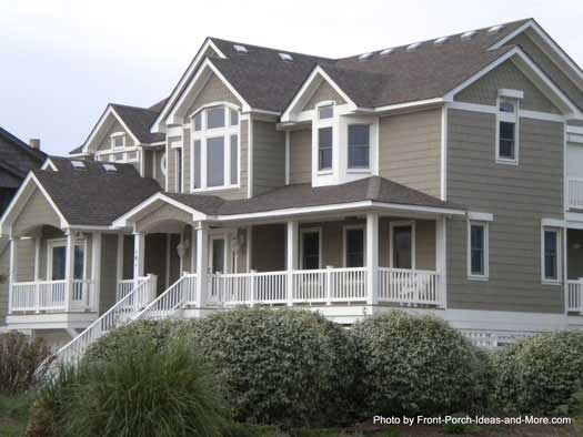 Duck north carolina duck nc front porch ideas for Beach front house designs